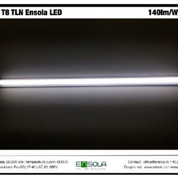 Tubul T8 Ensola LED mult mai luminos: 140lm/W