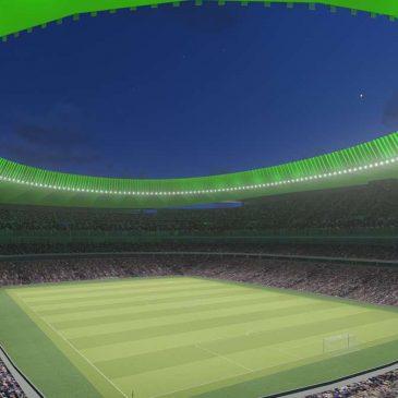 Noul stadion de fotbal al lui Atletico Madrid va fi iluminat cu LED