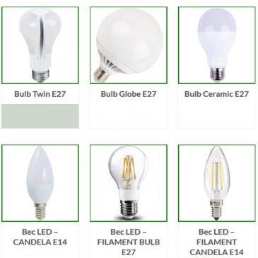 Lămpi cu LED în uzul casnic și birouri